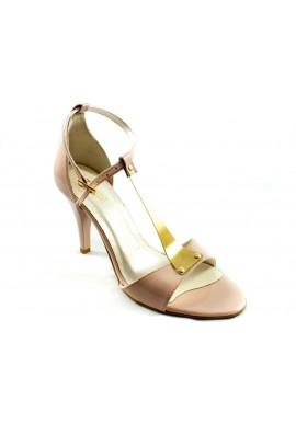 Sandały na szpilce różowe