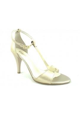 Sandały na szpilce złote