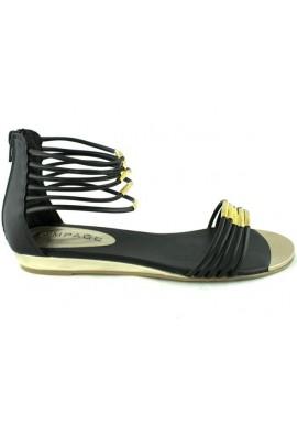 Sandały VICESS czarne ze złotym PRZECENA %%