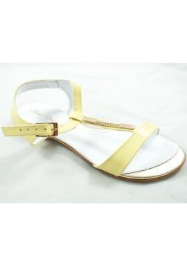 Sandały GIULIO SANTORO 991 żółty lakier PRZECENA %
