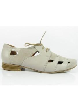 Półbuty ażurowe 1449 sandały szary Manufaktura JOZEFF