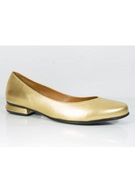 Gładkie baleriny JOZEFF złote