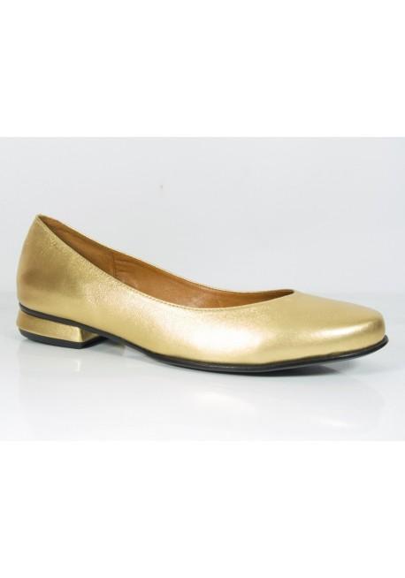 Gładkie baleriny w kolorze złota