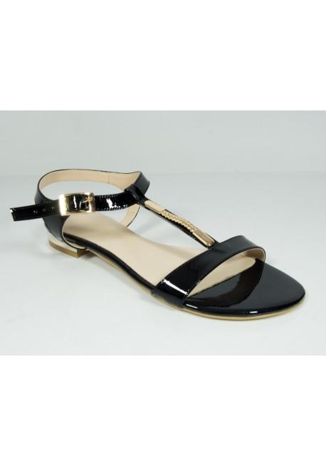 Sandały Solo Due 1120 czarny ze złotym