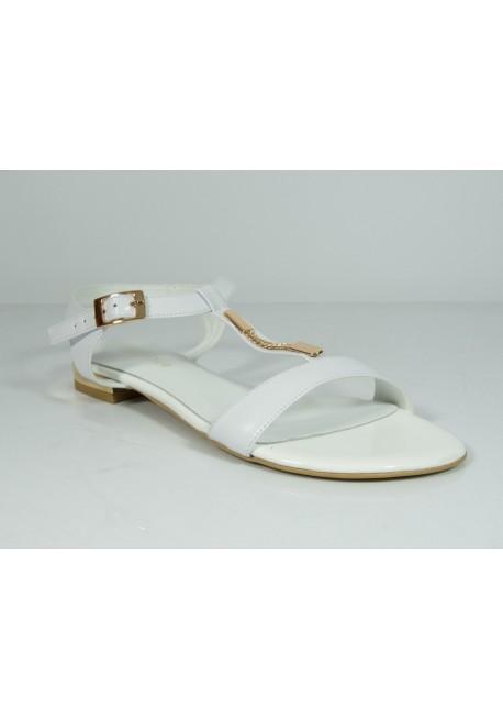 Sandały Solo Due 1120 biały perłowy ze złotym
