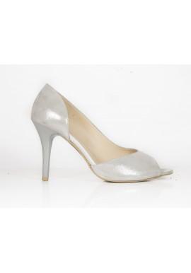 Sandały ANIS 4594 srebrny satyna
