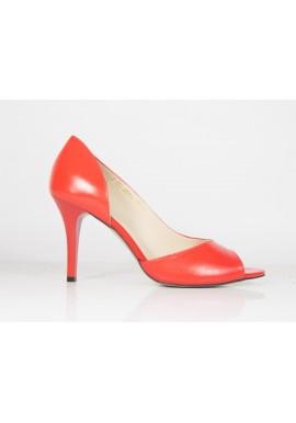Sandały ANIS 4594 czerwony skóra licowa