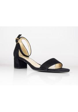 Sandały Vanessa 1274 czarny nubuk