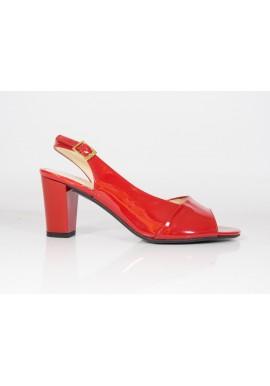 Sandały Vanessa 1157 czerwony lakier