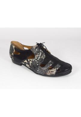 Półbuty ażurowe sandały wąż Manufaktura JOZEFF