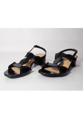 Sandały VANESSA 1468 czarny lakier