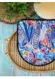 Mini torebka z uroczym kwiatem Granatowa