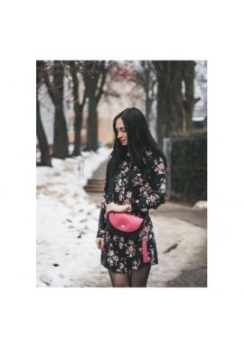 Granatowa torba biznesowa